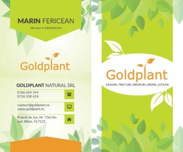 Carte de vizita Goldplant